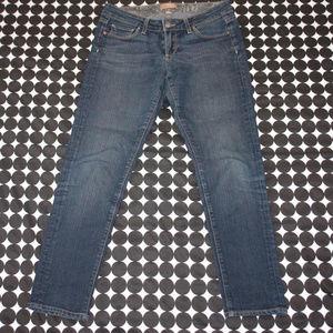 Paige Roxie Crop Jeans Medium Wash Straight Leg 27